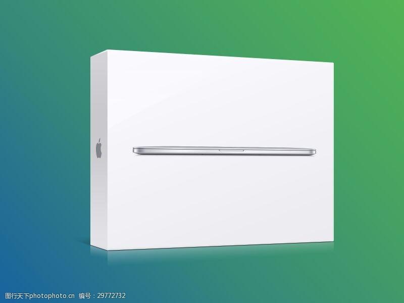 立體白色包裝盒子模型包裝貼圖樣機展示素材