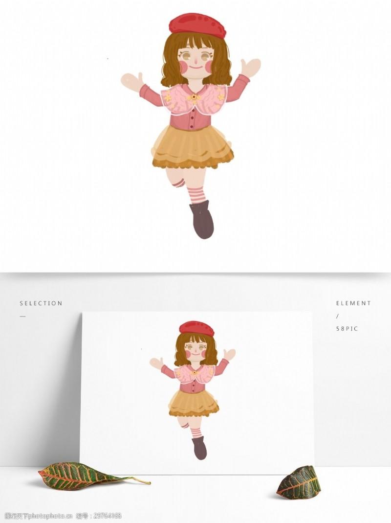 可愛卡通洋娃娃原創元素