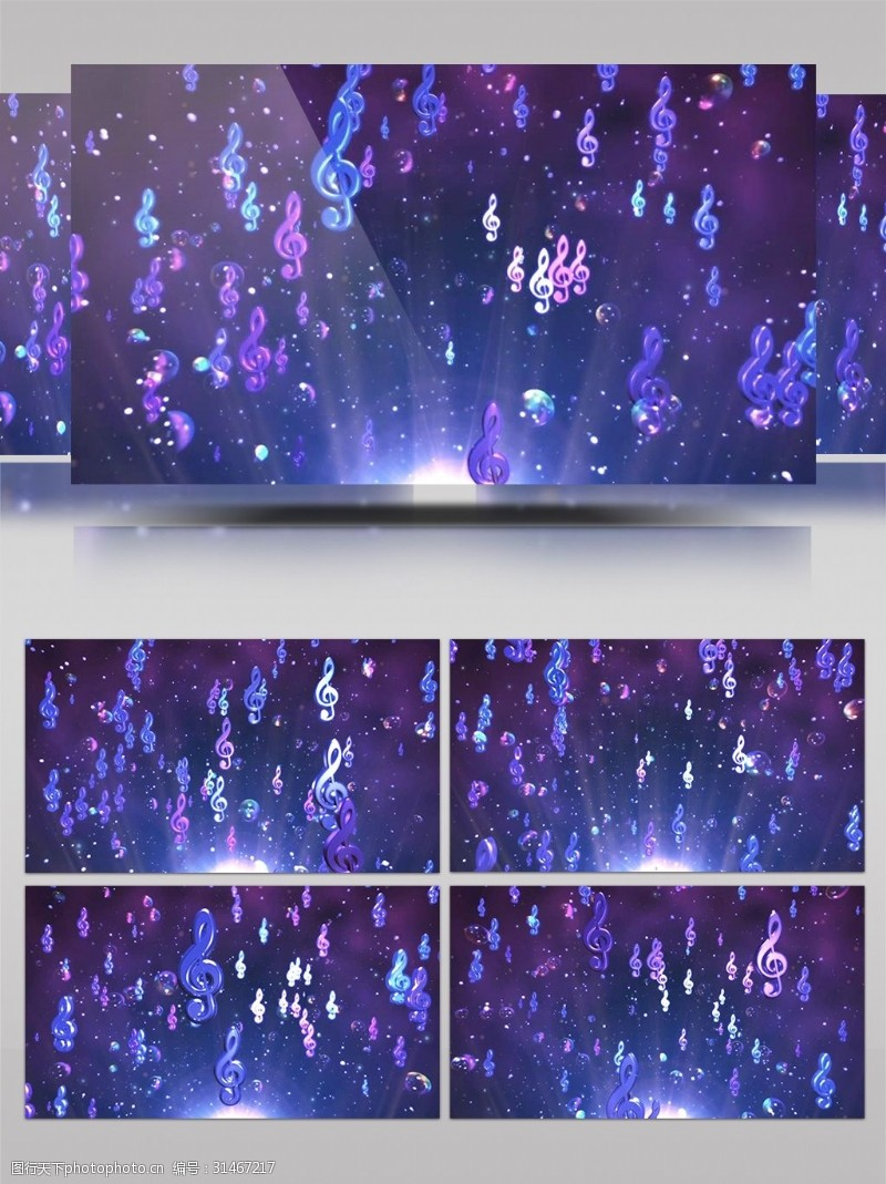 音乐节晚会音符led视频背景AE模板
