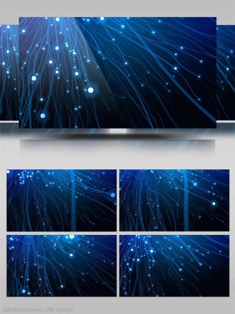 led视频唯美浪漫光线粒子晚会背景LED视频