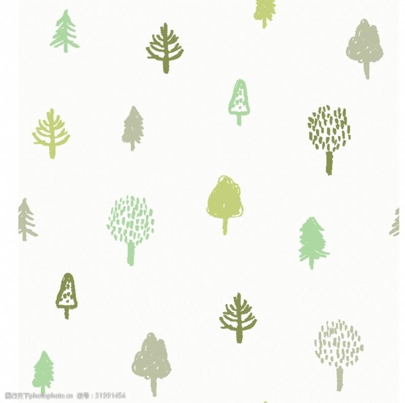 四方连续图矢量树木