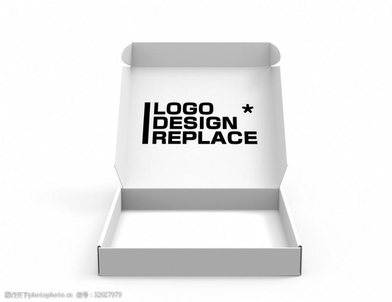 紙盒披薩盒樣機貼圖LOGO展示