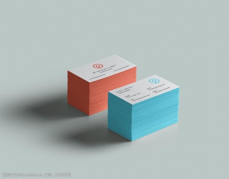 名片智能贴图样机设计会员卡模