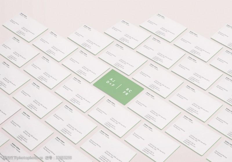 名片智能贴图样机设计会员卡模板