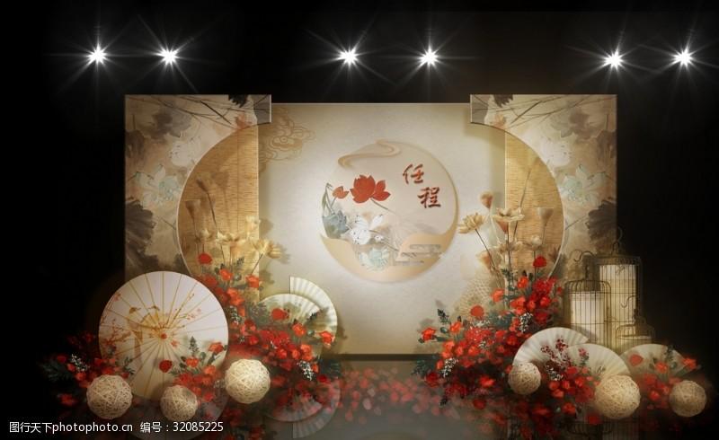 新中式婚禮迎賓區效果圖