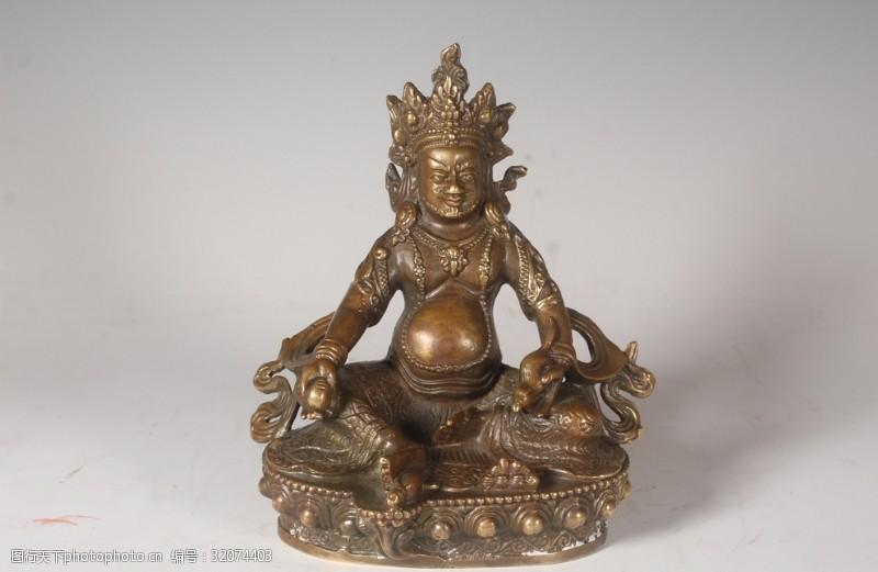 藏佛財寶天王銅坐像