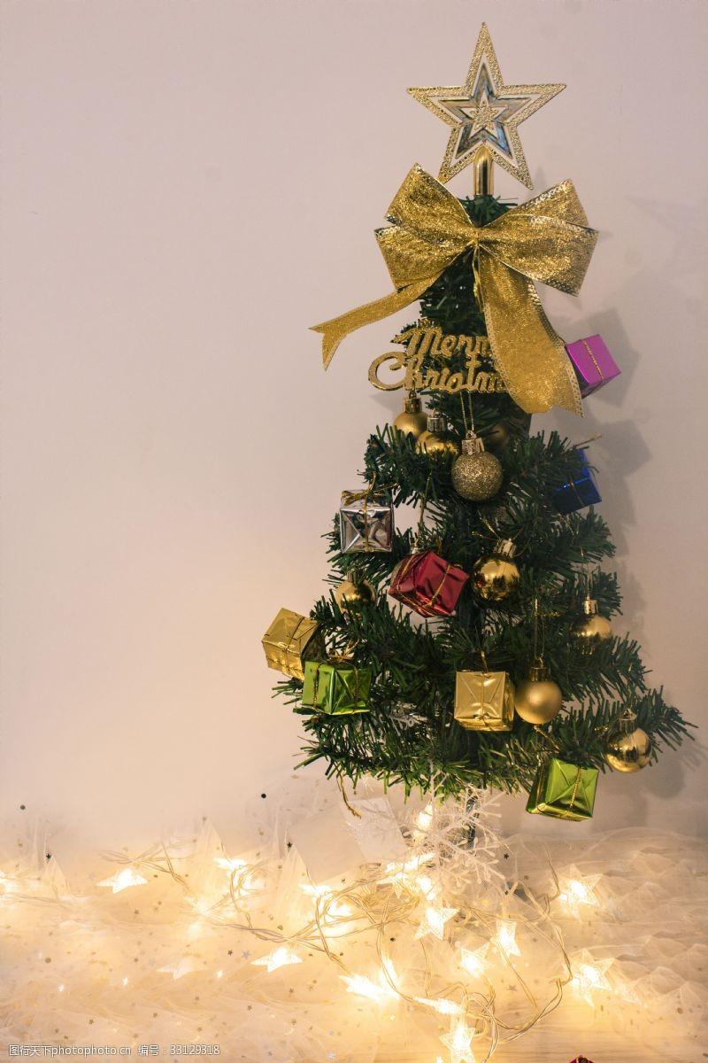 圣誕節的圣誕樹商用攝影