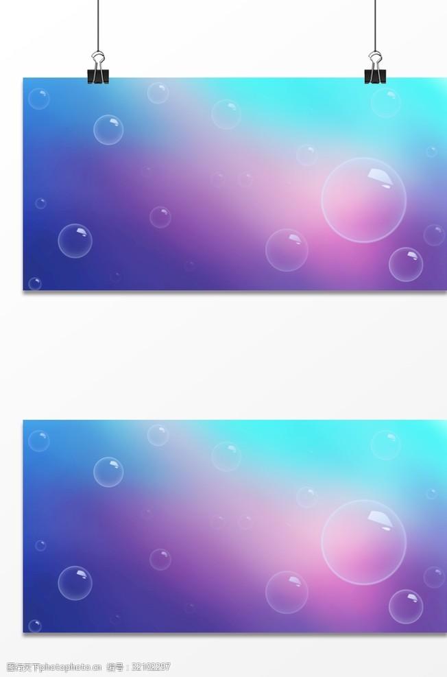 氣泡背景廣告