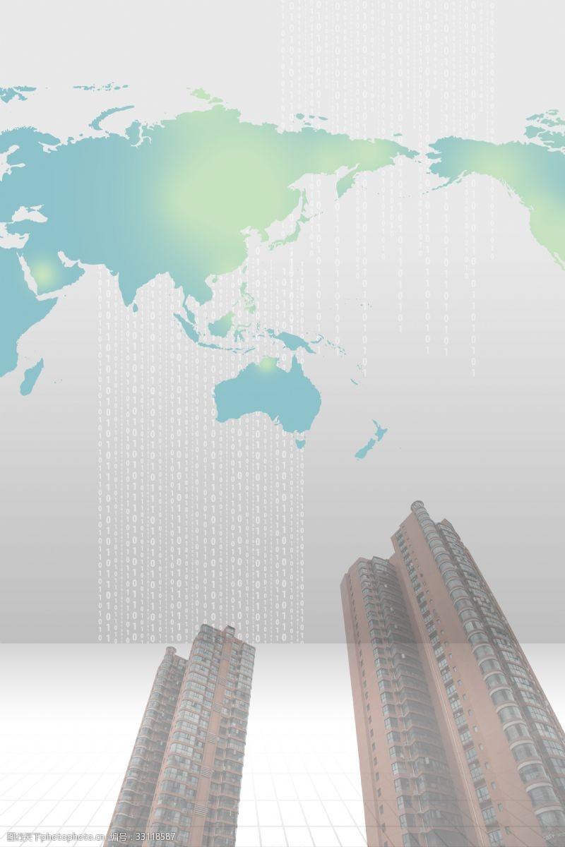 简单高楼大厦全球金融背景