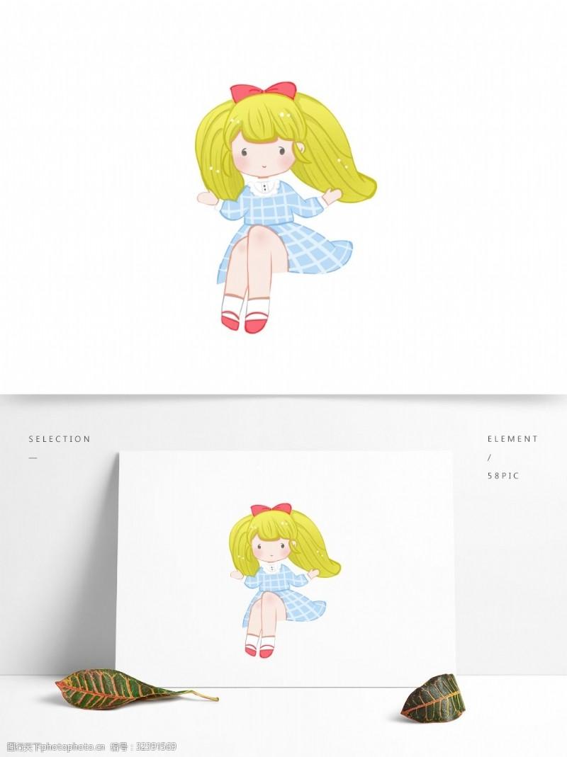 卡通一個可愛的洋娃娃