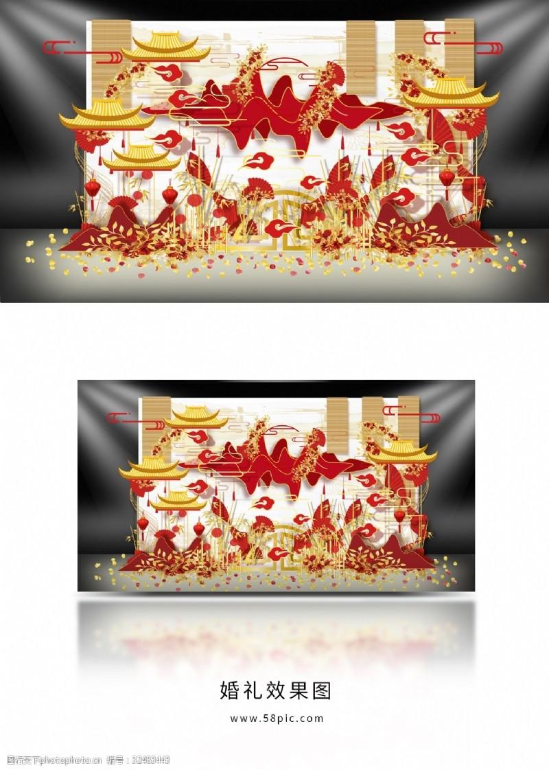 中國風新中式婚禮效果圖設計