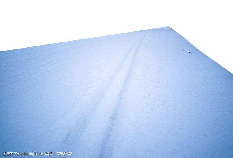 道路白雪寬敞白色