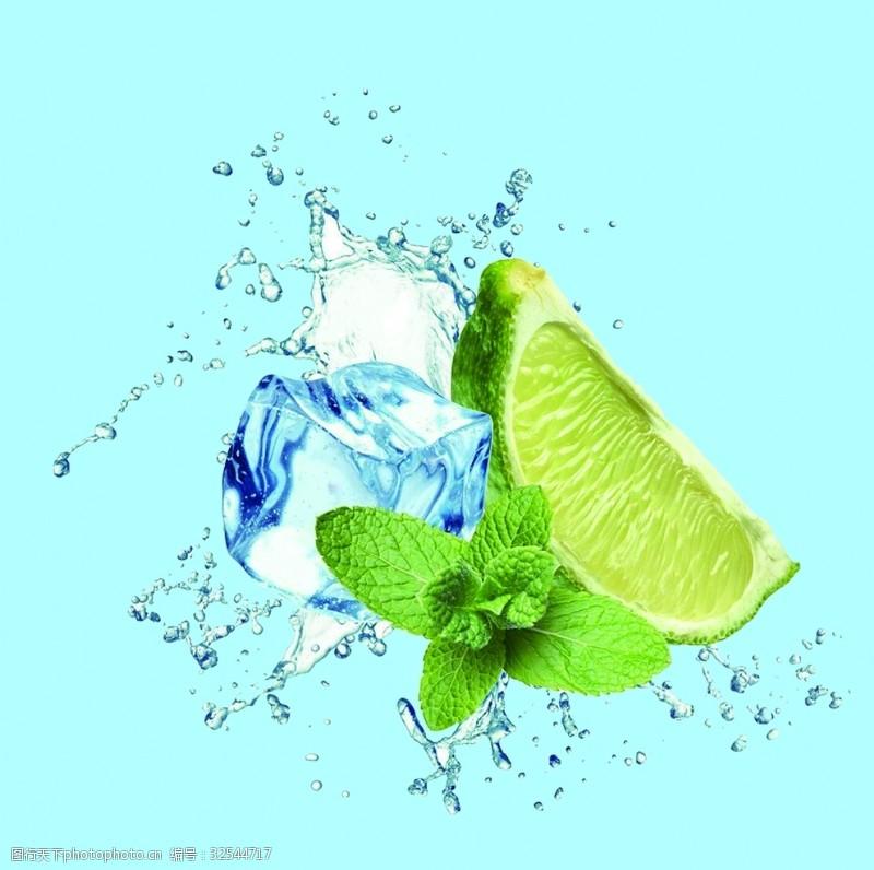 冰块薄荷青柠檬