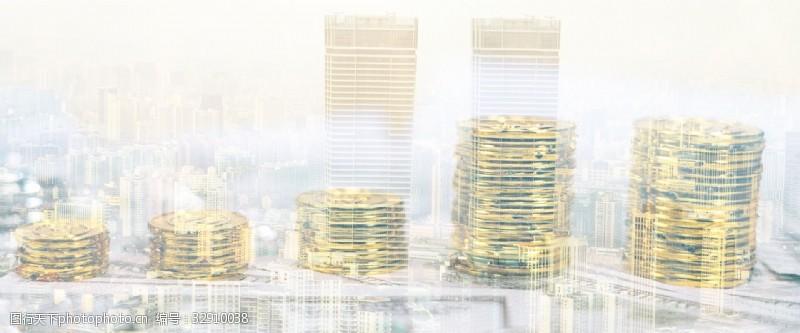 创意合成办公理财大气商务金融背景