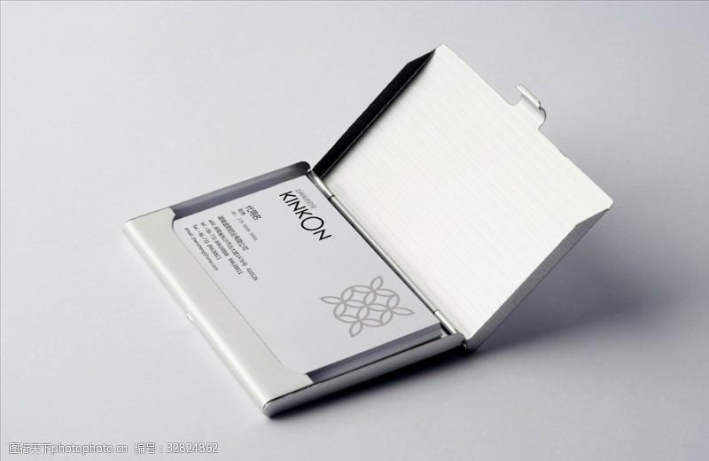 名片盒里里的名片樣機