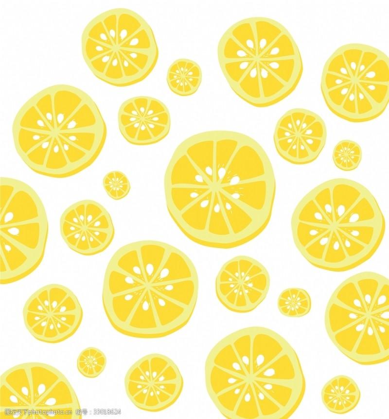 卡通柠檬背景