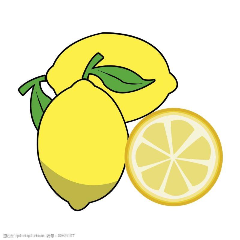 黄色卡通柠檬