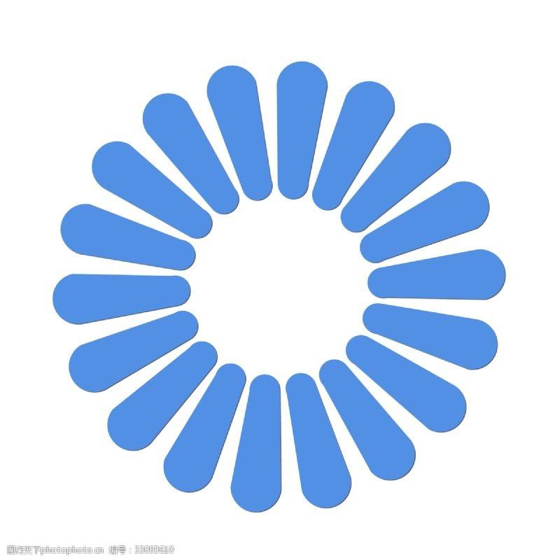 蓝色简约大方花纹花朵