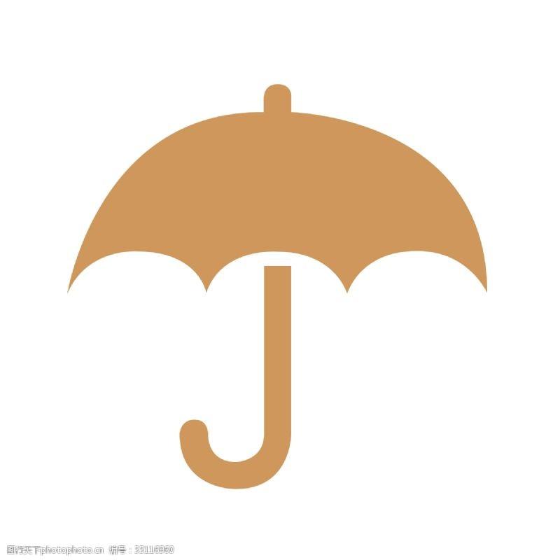 扁平化雨傘