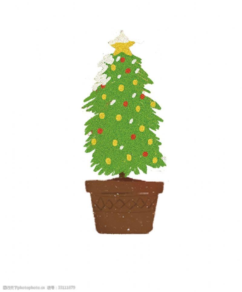 綠色的圣誕樹