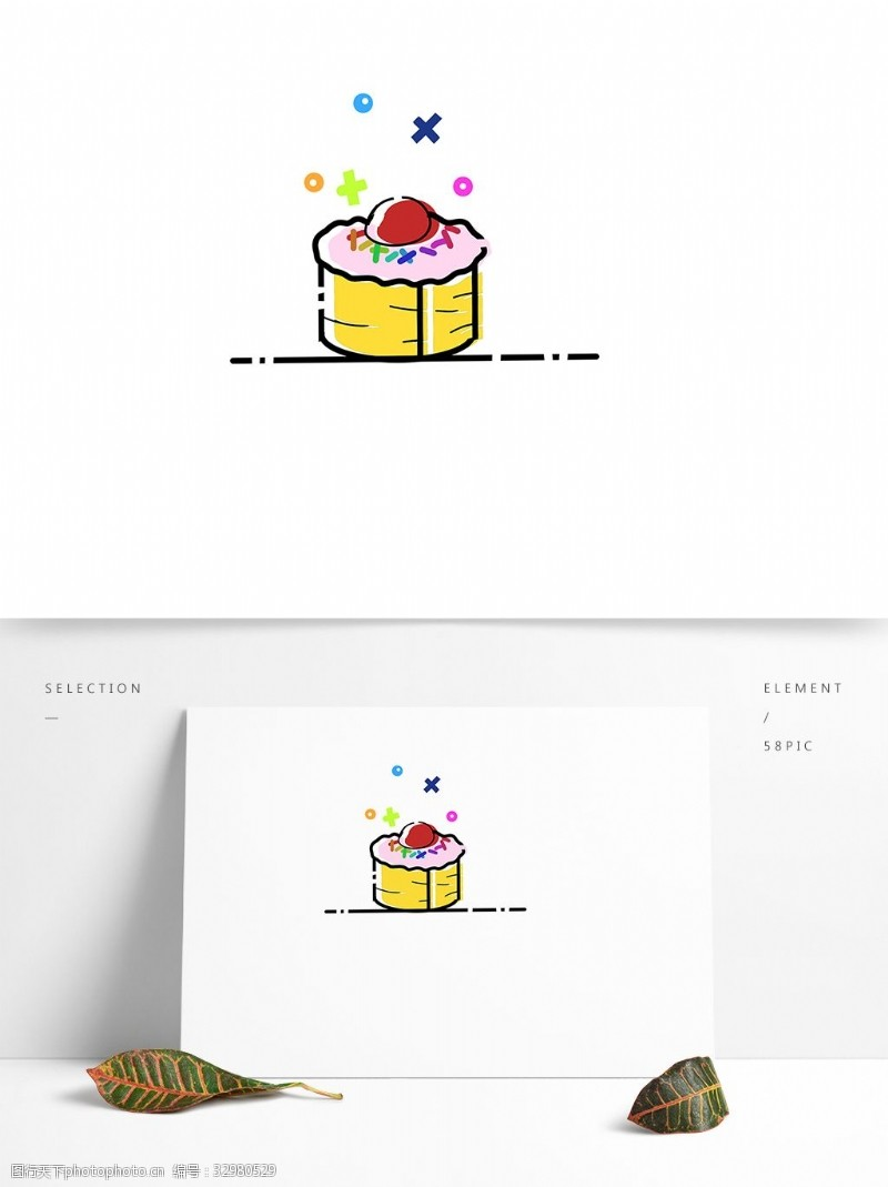 小點心手繪小蛋糕下午茶