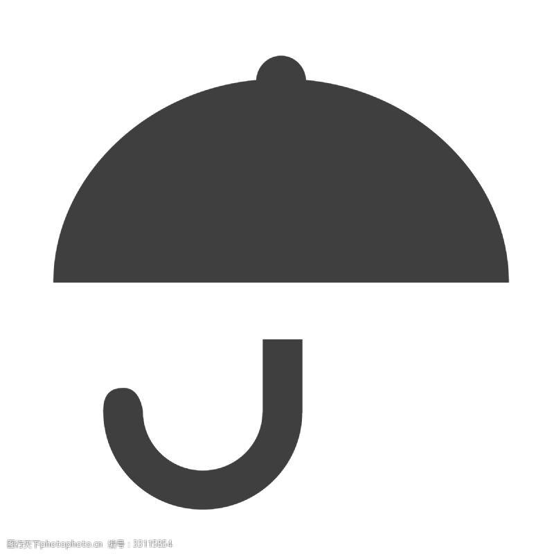 黑色的卡通雨傘