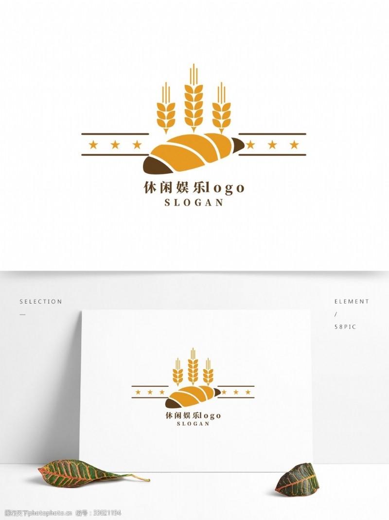 休閑娛樂下午茶面包店logo