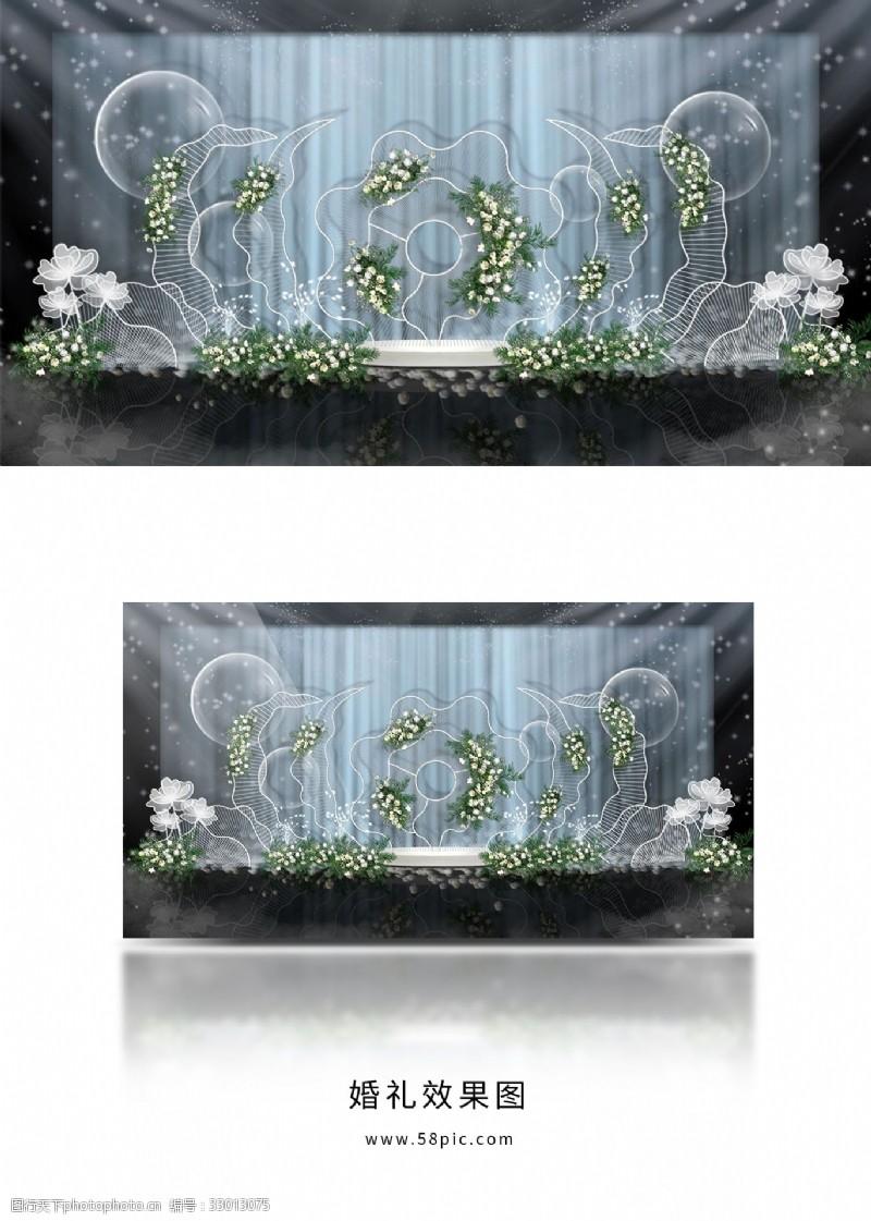 千絲萬縷鐵藝浪漫婚禮留影區