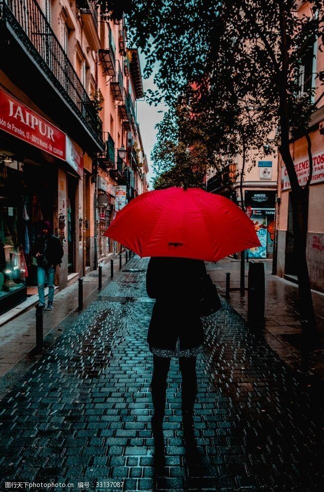 雨傘簡筆畫