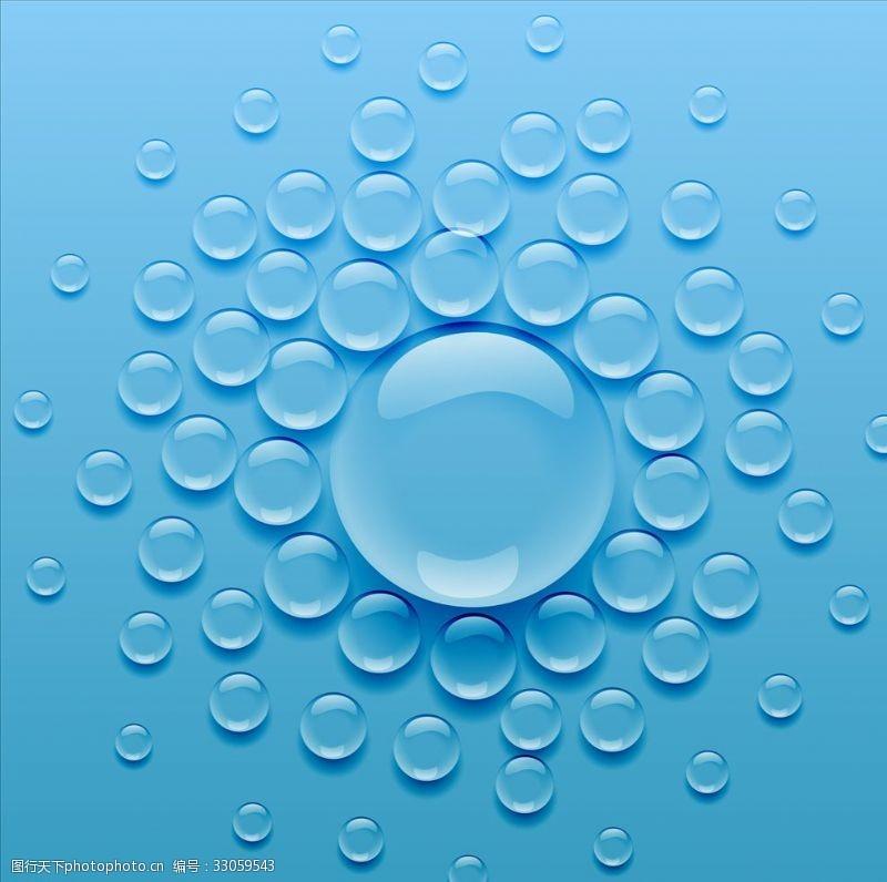 氣泡背景簡筆畫