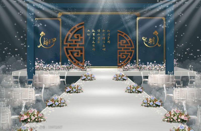 新中式婚禮背景