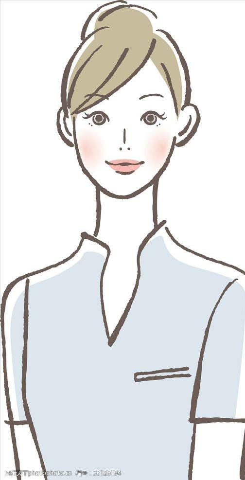 手绘女性插图