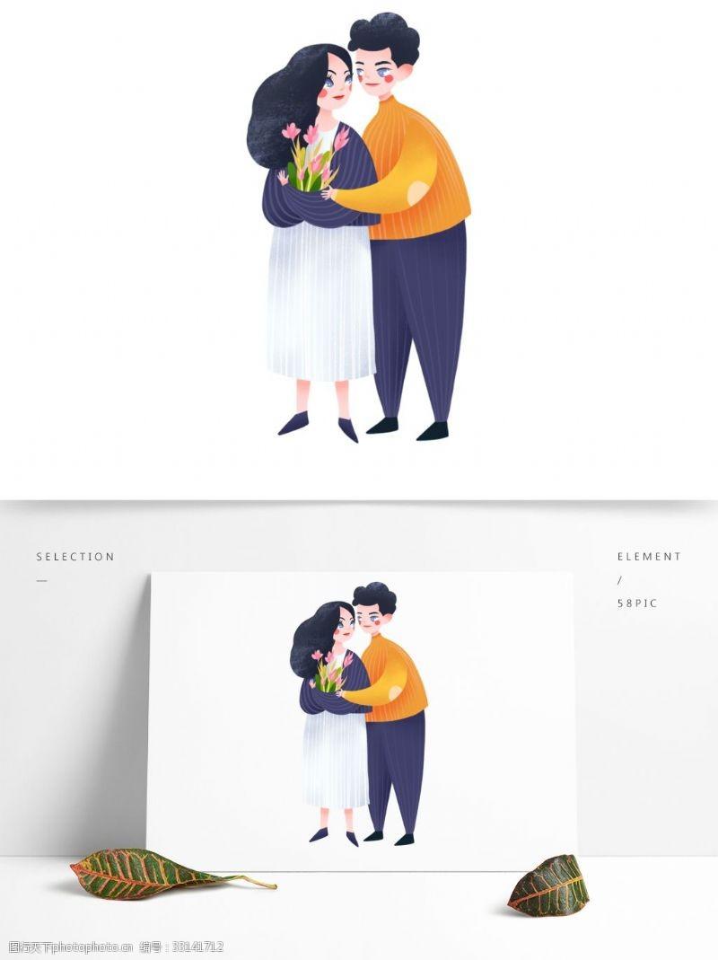 浪漫情侶約會裝飾元素