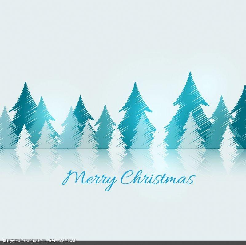 涂鴉圣誕樹卡