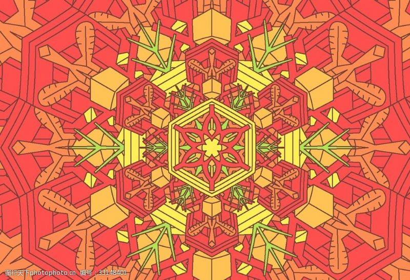 古典民俗花紋