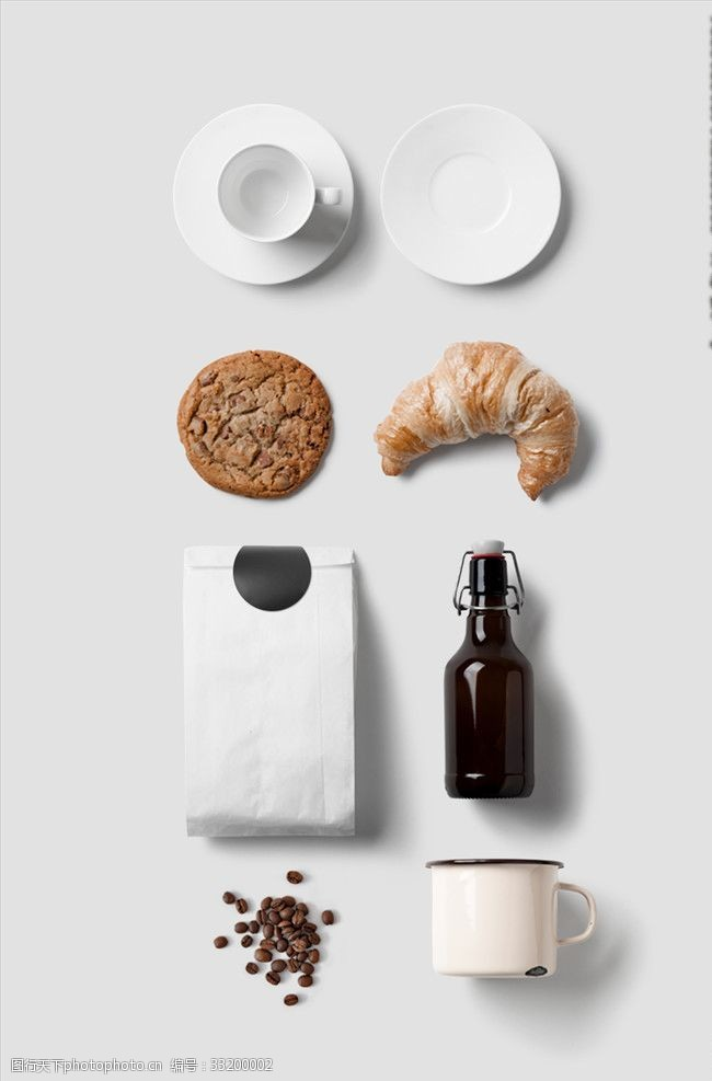 餐飲行業vi樣機貼圖模板包裝