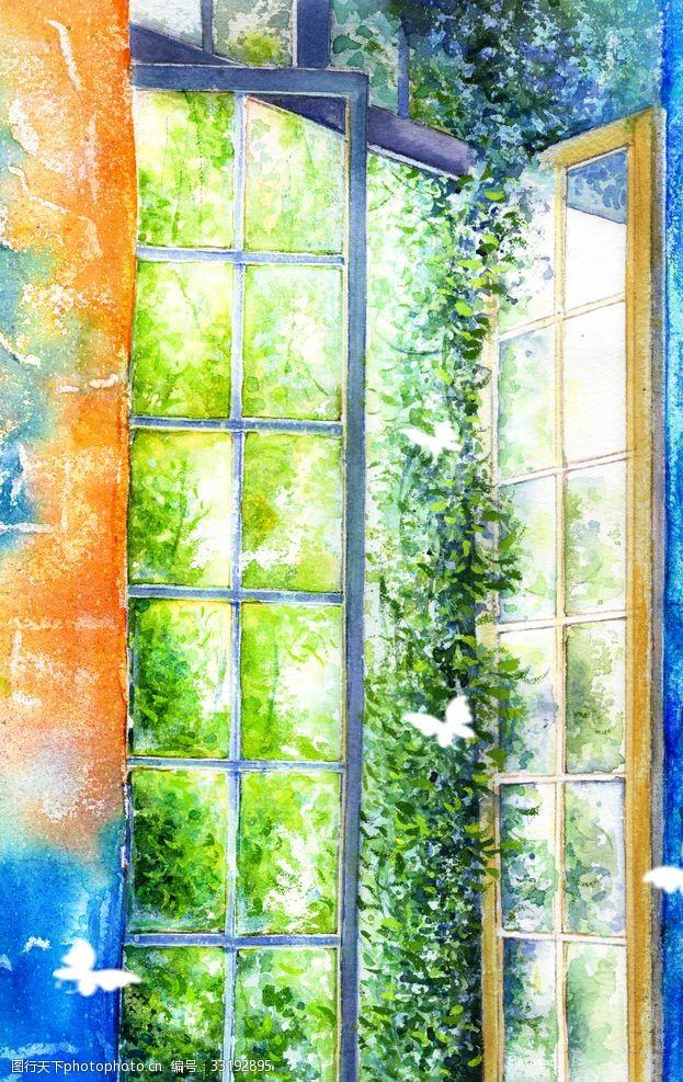 蝴蝶飞出窗户插图