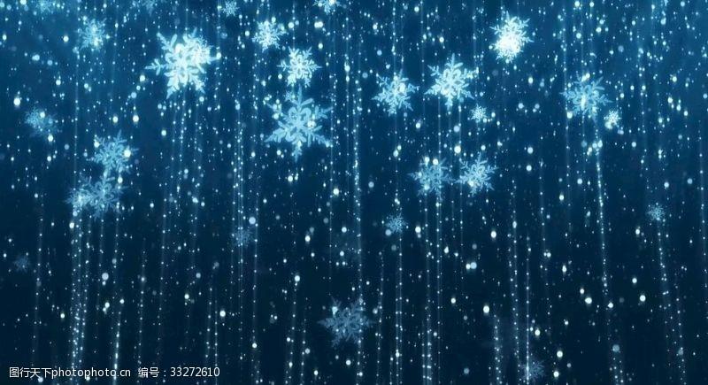 雪花飄落唯美
