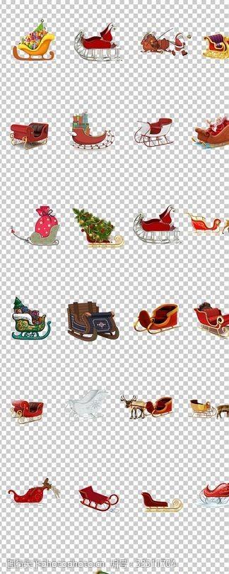 雪橇車馴鹿車圣誕雪橇車裝滿禮物