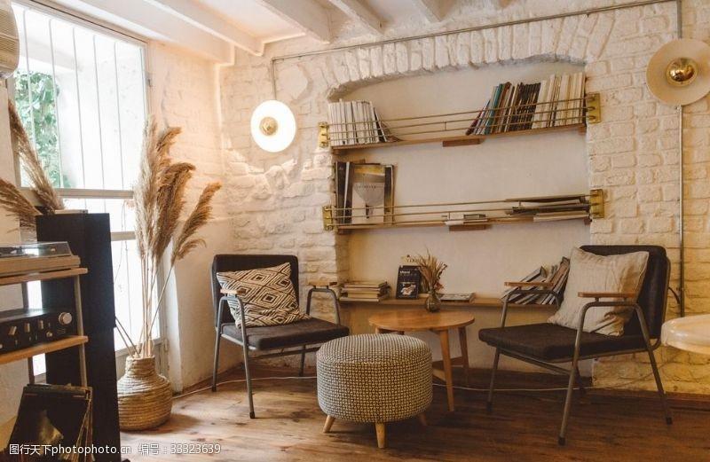 公寓溫馨住宅書架臥室