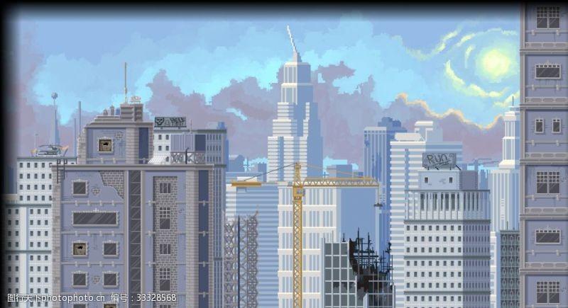 高樓大廈插畫