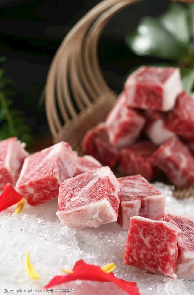 雪花牛肉粒