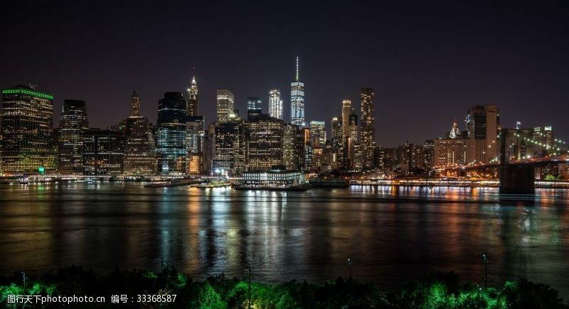城市夜景高樓大廈素材圖片素材
