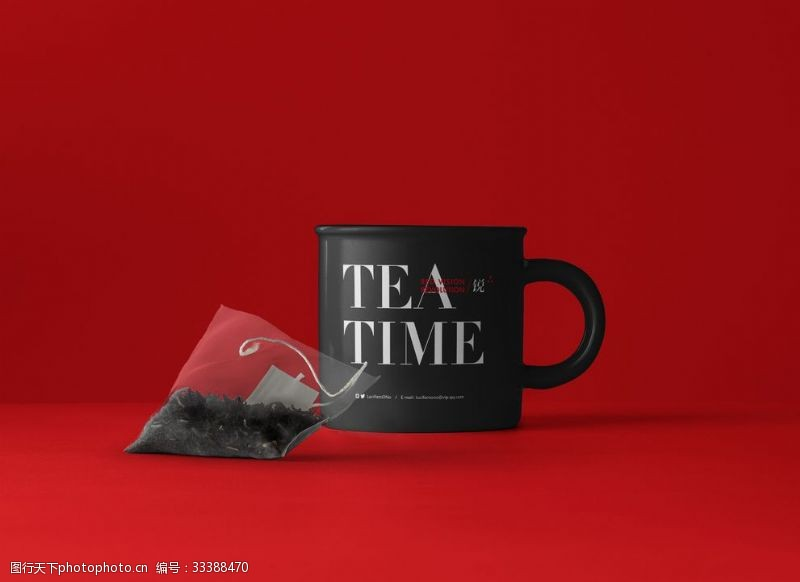 vi樣機茶杯搪瓷杯茶袋袋泡茶VI樣機