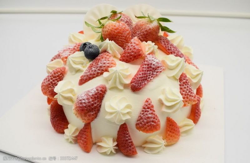 下午茶新鮮草莓巧克力裸蛋糕