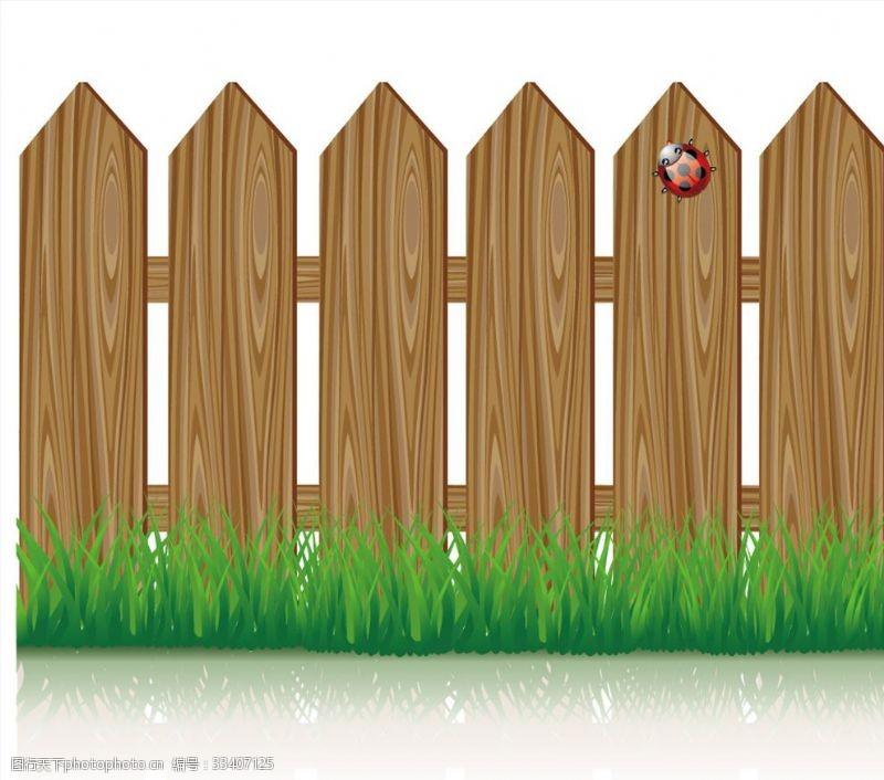 一般素材系列木头围栏田园乡村风格