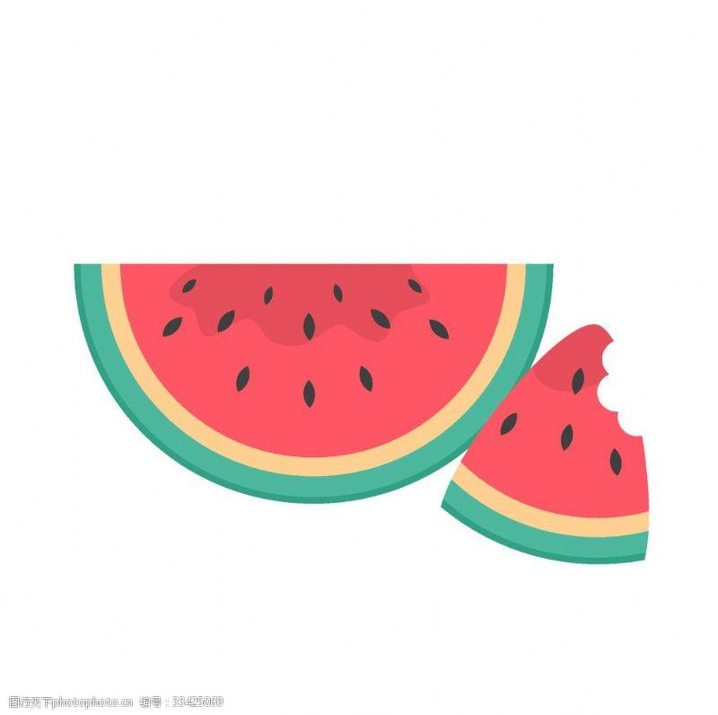 夏天插畫西瓜