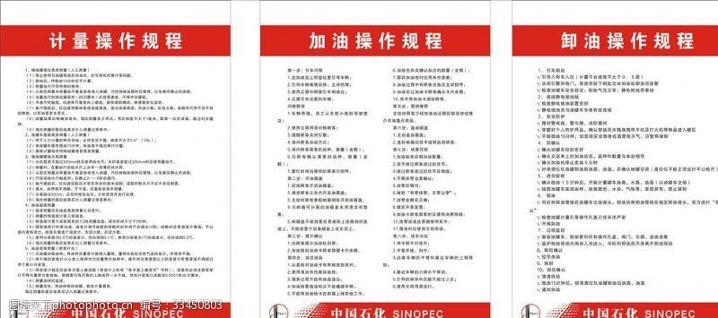 制度牌中國石化制度