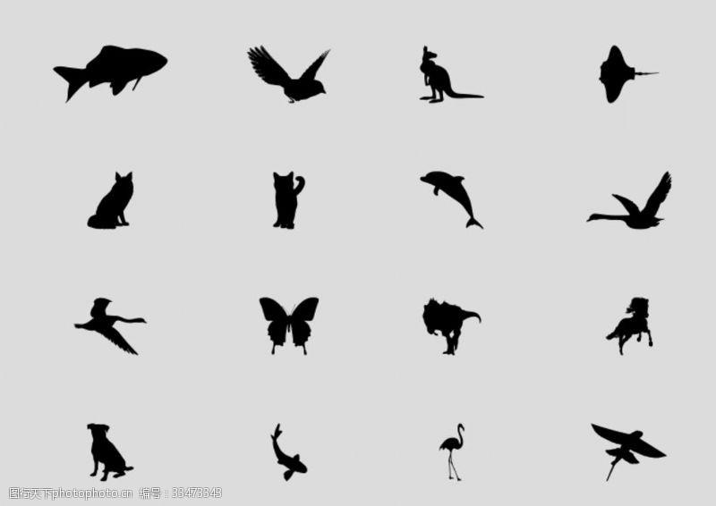 動物剪影矢量圖X4.cdr