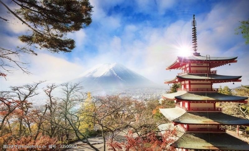 日本淺草寺唯美風景